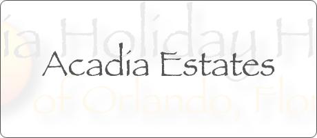 Acadia Estates Kissimmee Orlando Florida