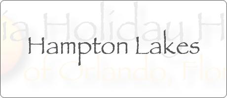 Hampton Lakes Davenport Orlando Florida