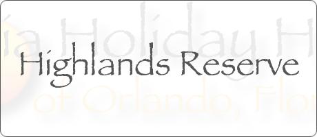 Highlands Reserve Davenport Orlando Florida