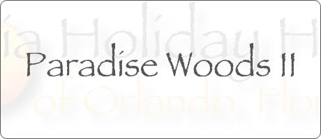 Paradise Woods II Davenport Orlando Florida