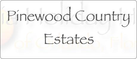 Pinewood Country Estates Davenport Orlando Florida